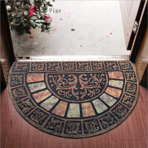 Direct caoutchouc flocage villa porte entrée hall entrée salon cuisine entrée semi-circulaire porte tapis tapis de sol