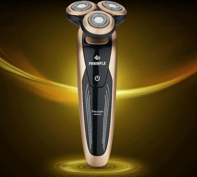 Los hombres calientes del estilo batería de afeitar afeitadora eléctrica macho de tres lavados 4 d coche cuchillo barba debe ser de la corte herramientas