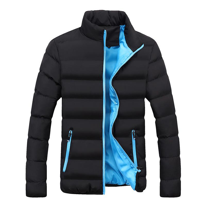 Ambitious Men Autumn Winter Jacket Stand Collar Windbreaker Male Blue Baseball Jacket Casual Fleece High Quality Plus Size Baseball Jacket Products Hot Sale Jackets Men's Clothing