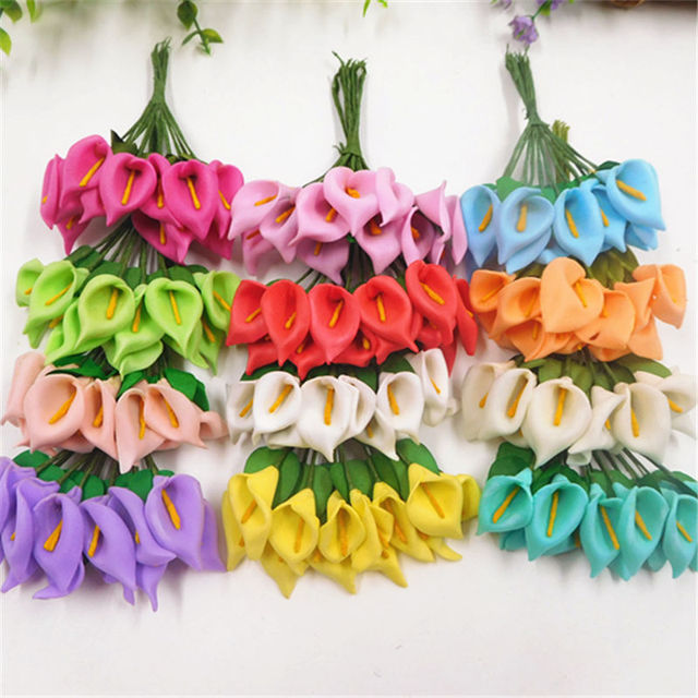 144pcs/artificial foam horseshoe lotus flower bouquet wedding ...