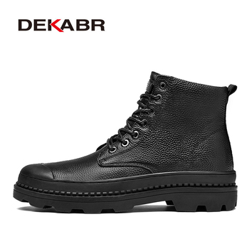 DEKABR Men Boots Size 38-46 Designer Mens Shoes Autumn Waterproof Snow Boots Lace Up Men Ankle Boots Warm Winter Shoes Male