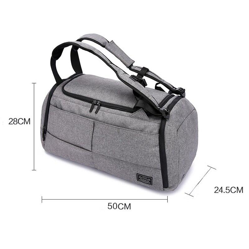 15 pouces sac de sport multifonction hommes sacs de sport femme sacs de Fitness sacs à dos d'ordinateur portable main voyage sac de rangement avec chaussures poche Yoga - 4