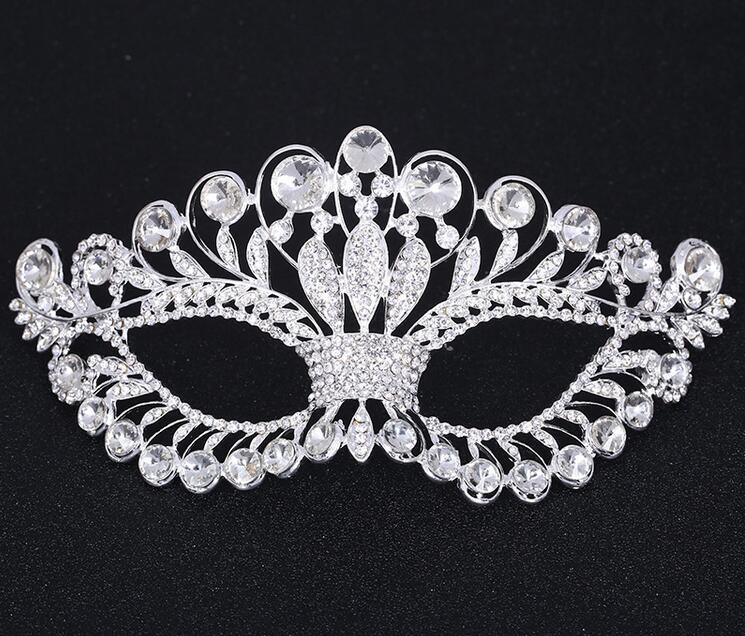 Кришталева маска срібло тон - Святкові та вечірні предмети