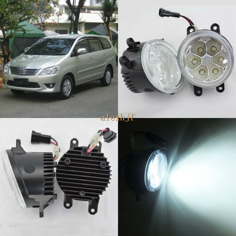 ФОТО July King 18W 6500K 6LEDs LED Daytime Running Lights LED Fog Lamp Case for Toyota Innova 2012, over 1260LM/pc