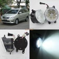 July King 18W 6500K 6LEDs LED Daytime Running Lights LED Fog Lamp Case For Toyota Innova