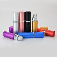 Hot Sale 5ml Mini Perfume Refillable Bottle Solid Color Women Travel Aluminum Spray Atomizer Bottle Empty Cosmetic Containers 30ml square color glass perfume bottle refillable empty sprayer bottle atomizer women makeup cosmetic containers 10pcs lot fz351