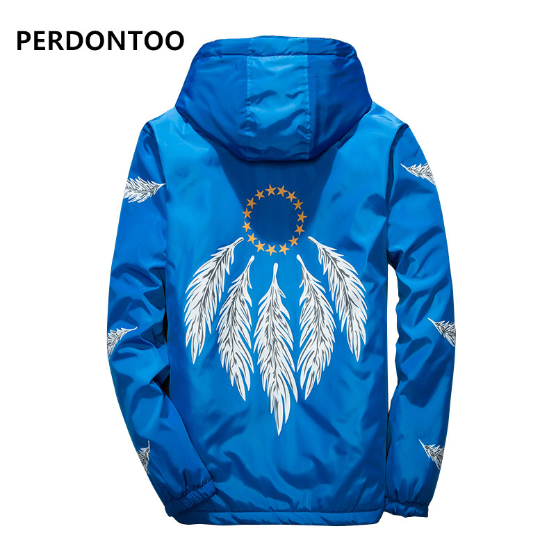 2017 New Fashion Slim Fit Young Men winter Hooded Jacket thin Jackets Casual Windbreaker 5 Colors s-2XL