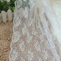 Free Shipping Lace Fabric Rose Embroidered Background Cloth Curtain Cloth Width 150cm 1yard