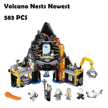 Model Building Blocks toys 06072 Volcano Nests Newest compatible with lego Ninjago Series 70631 Educational DIY toys hobbies