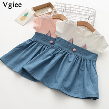 Vgiee Kids Dress for Baby Girls Dresses 2019 Spring Summer Party Princess Dress Print for Cat Little Girls Clothing CC338