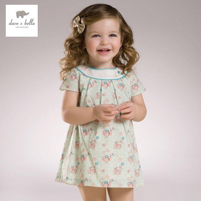 ead01716bba DB3358 dave bella summer baby girl princess dress baby green floral dress  kids birthday clothes dress girls Lolita dress