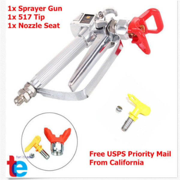 3600PSI Airless Paint Spray Gun W  Tip Tip Guard For TItan Wagner Sprayers Nozzle