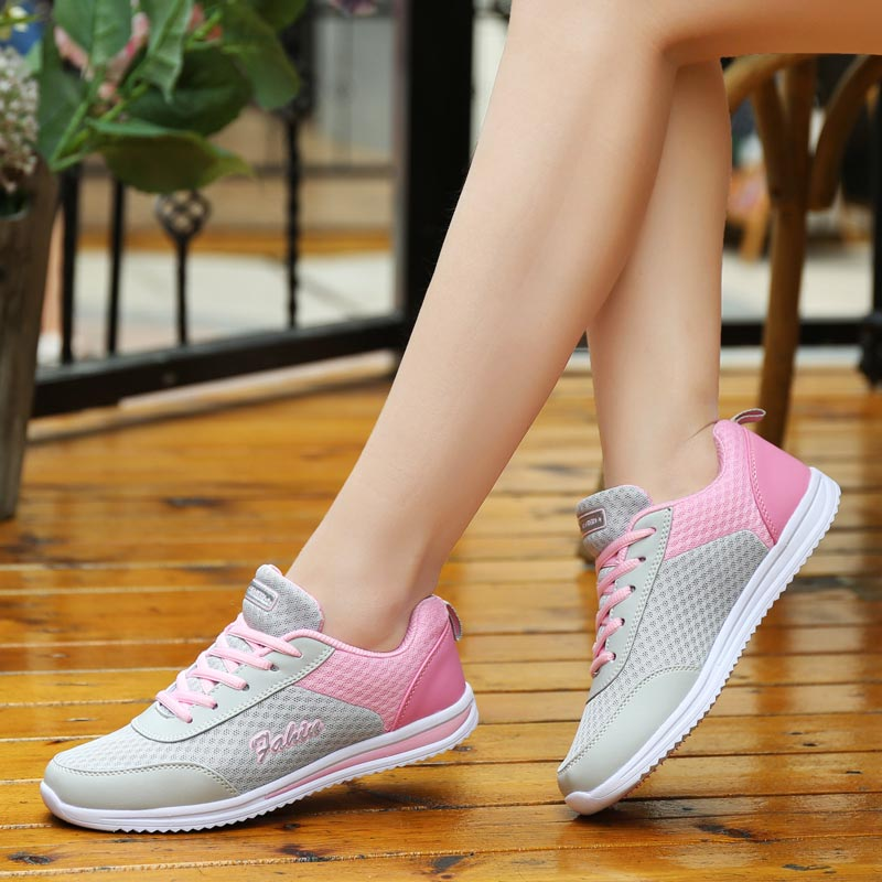 Summer Breathable Women Running Shoes Women's Sports Shoes Women Sport Sneakers Women's Athletic Shoes Gray Training Gym C-250