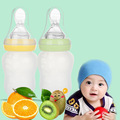 180ml Silica Gel Baby Bottle High Quality Rice Cereal Juice Feeding Bottle Squeeze Spoon Child Complementary Food Mamadeira 2017