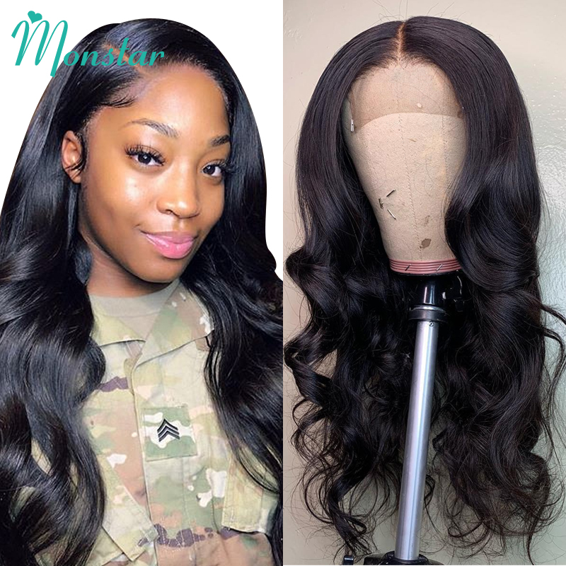 Monstar Body Wave Lace Front Wigs Brazilian Remy Hair Bleached Knots 150 Density Glueless Human Hair