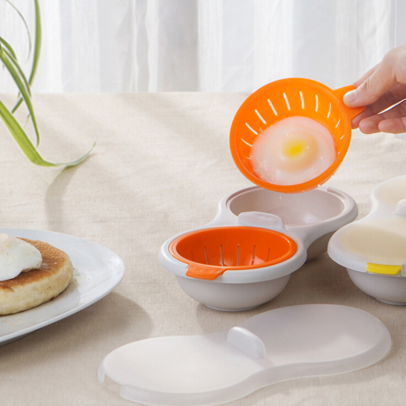 Microwave Oven Egg Poacher Egg Steamer Boiled Eggs Mold Egg Yolk White Separator Cooking Tools