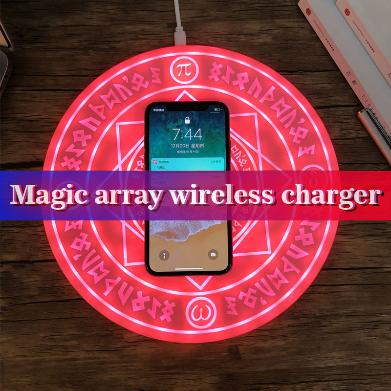 Magic Array 5W 10W QI Wireless Charger for Samsung S8 S9 Fast Ultra Slim music Charging Pad for iPhone X XS MAX XR Phone Charger