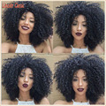 150 Density Natural Short Afro Kinky Curly Wigs Human Hair Lace Front Brazilian Virgin Hair Wig Short Kinky Curly Lace Front Wig