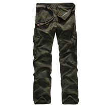 New Cargo Pants Men Loose Cotton Trousers Casual Pants Camouflage Pants Tactical Male Pockets Military Straight Camo Casual Army mens joggers pants men camouflage tactical cargo pants male jogger 2019 new military camo pants male trousers pantalon hombre