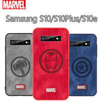 Coque originale Marvel Thor téléphone étui pour samsung Galaxy S10e capitaine amérique tissu antichoc couverture arrière pour Galaxy S10 Plus