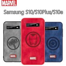 Оригинальный Coque Марвел Тор чехол для телефона для samsung Galaxy S10e Капитан Америка ткань Противоударная задняя крышка для Galaxy S10 плюс