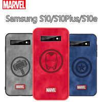 Originale Coque Marvel Thor Cassa Del Telefono Per Samsung Galaxy S10e Captain America Tessuto Della Copertura Posteriore Antiurto Per La Galassia S10 Più