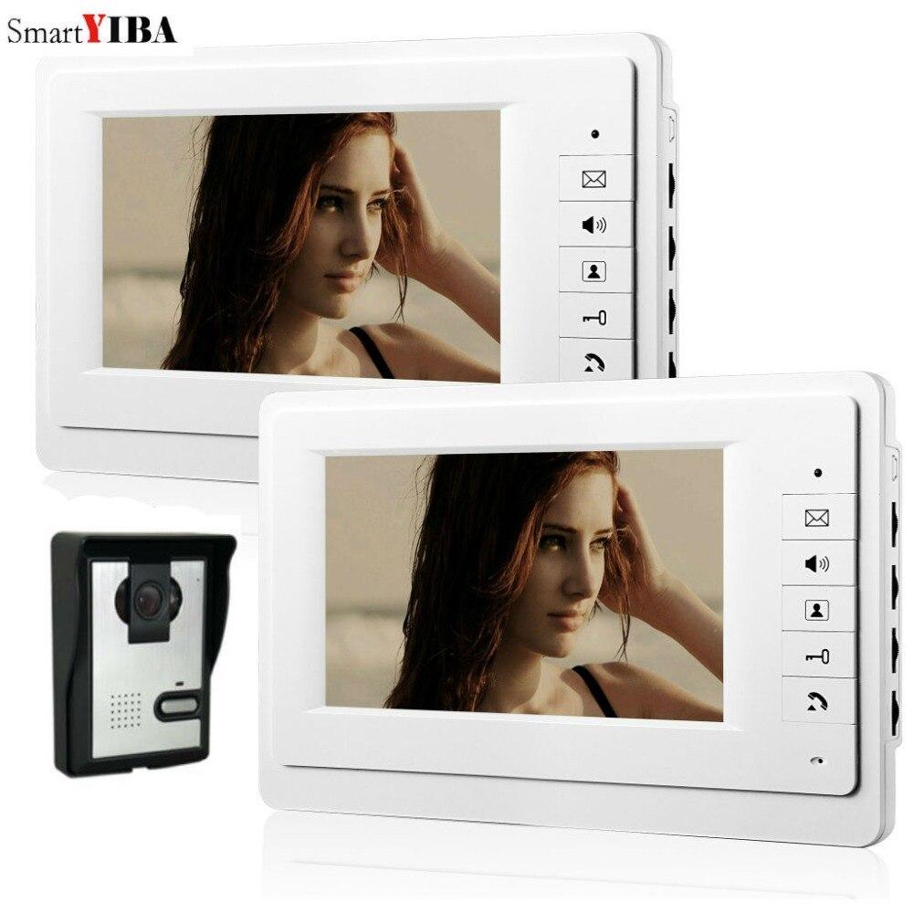 "Smartyiba 7 ""monitor da porta de vídeo edifício sistema vídeo porteiro casa apartamento campainha com fio interfone kits"