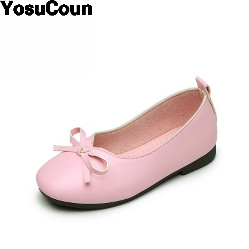 2017 Girls Shoes Leather Shoes Princess Shoe Girl Children Fashion Casual Spring Summer Autumn Pink Shoe