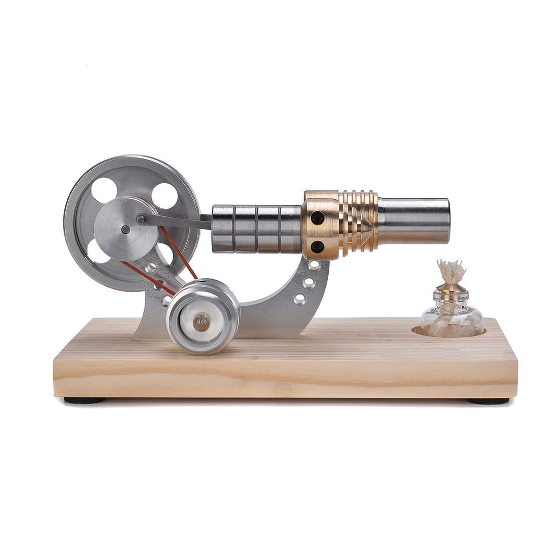 Metal Cylinder Bootable Stirling Engine Model Micro External Combustion Engine Model metal baseboard double cylinder micro diy stirling engine external combustion engine