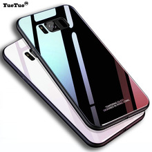 YueTuo luxury original glass mirror case for samsun
