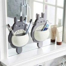 1 шт. настенный держатель для зубных щеток МИЛЫЙ Тоторо присоска для ванной комнаты Органайзер семейные инструменты аксессуары Прямая поставка