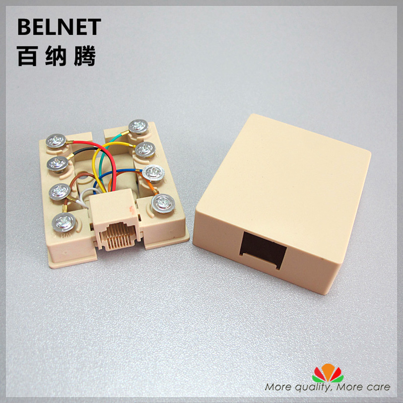 8 Terminal Block Single-port Network Wiring Box RJ45 Network Cable Junction Box 8P8C Desktop Box Distributors RJ45 CONNECTER