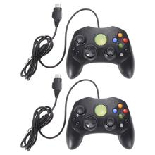 2pcs Black Game Controller Wired Controller Game Pad Gamepad Joystick for Microsoft XBOX S Type 2