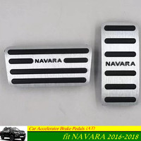 For Nissan Navara 2016 2017 2018 Aluminum Car Pedal Auto Foot Pedals Automatic Transmission AT for Navara 2018
