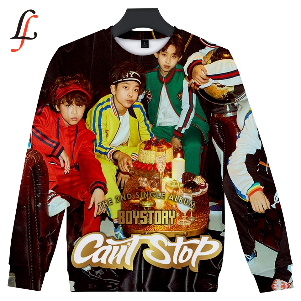 Capless Sweatshirt Women Boystory 3D Print Hip Hop 2019 New Fashion High Quality Women / Men Hoodies Hot Kpop Clothes