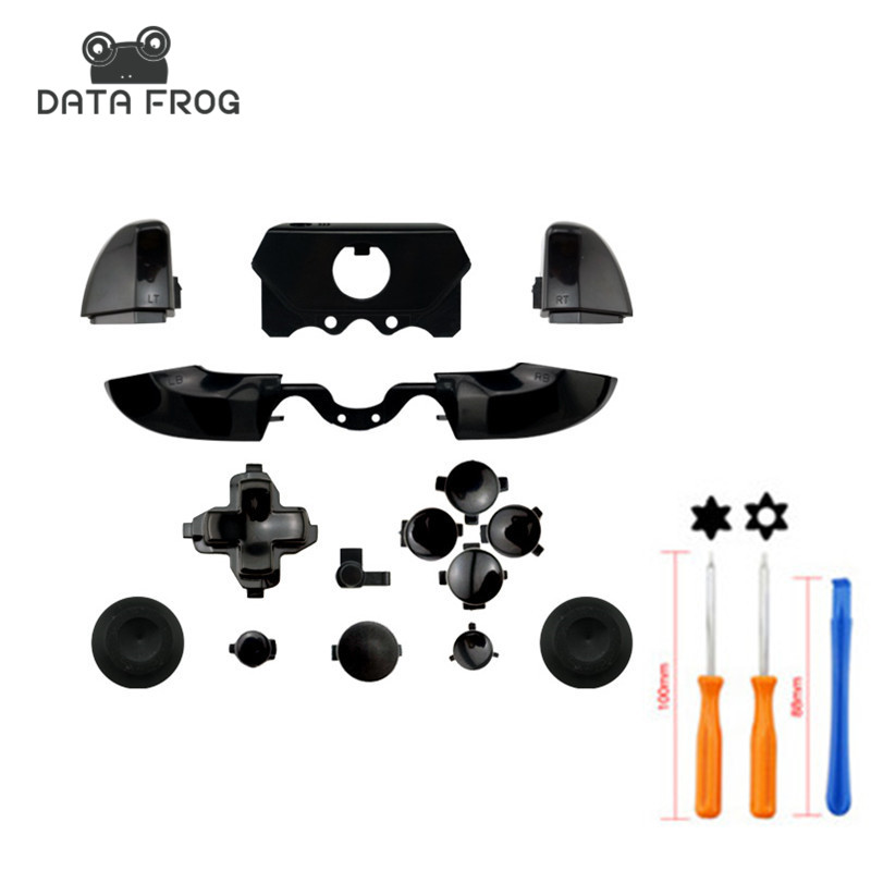 Matte Black Custom for Xbox ONE Controller Buttons Full Mod Kit Triggers DPad +Torx Screwdriver Repair Open Hand Tool yuxi bumper triggers buttons replacement plastic