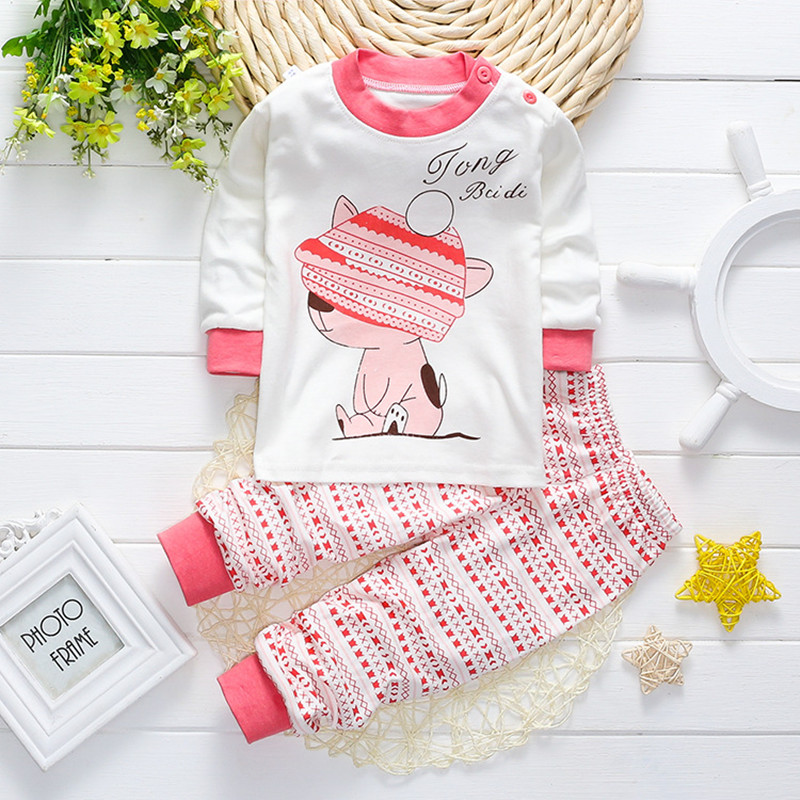 Infant Baby Girl/boys Sleep Clothing Set Children Cute Cartoon Pajamas Suit Newborn Kids Soft Cotton Underwear Baby clothing Set hhtu 2017 new infant baby girl boys sleep clothing set children cute cartoon pajamas suit newborn kids soft cotton underwear