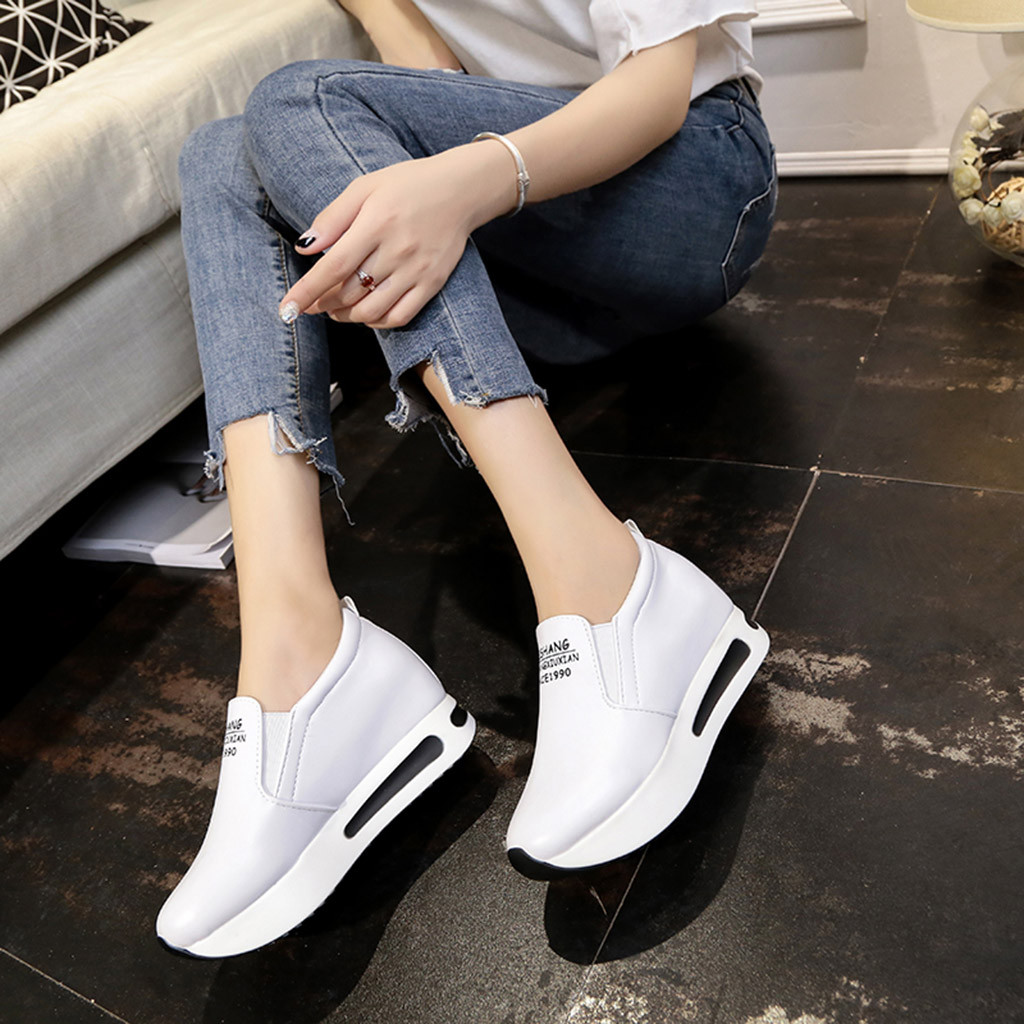 Shoes Woman Sneakers Thick Platform Sport Casual Fashion Women's Solid title=