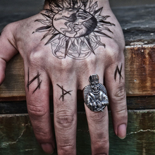 Satan Anti Cross Christ Father Rock Stainless Steel Ring Men Gothic Punk Biker Skull Rings Jewelry