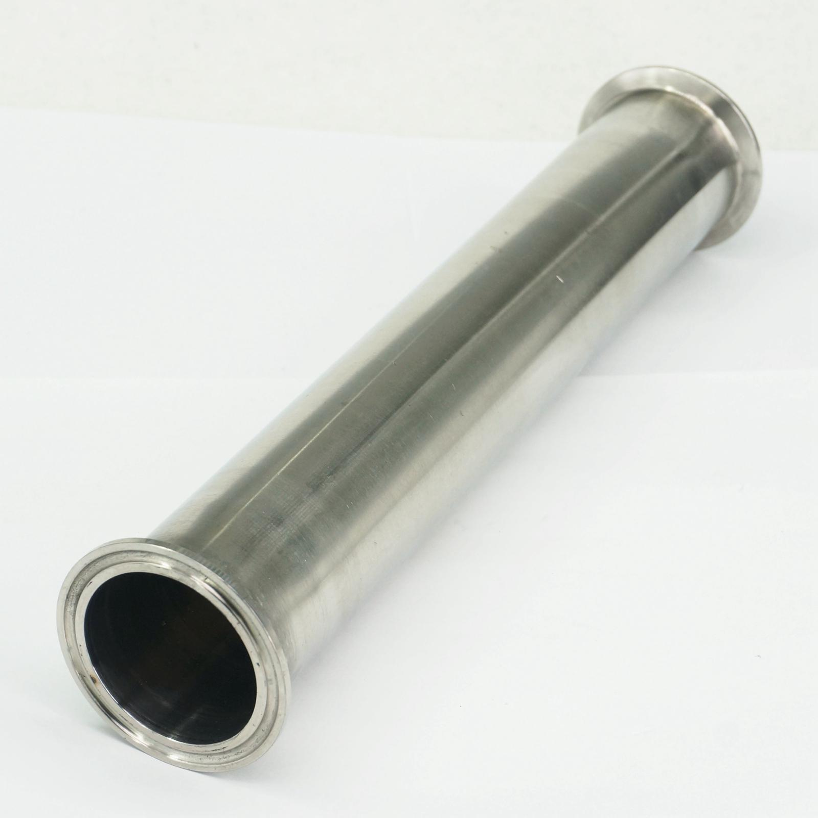2 Tri Clamp x 51mm OD Tuyau Sanitaire Bobine Tube Longueur 305mm (12) Pour Homebrew SUS304 En Acier Inoxydable