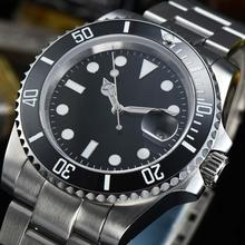 watch Ceramic bezel 40mm black dial Sapphire Glass Automatic miyota 8215 Sterile stainless steel strap L40-3 все цены