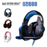 KOTION EACH G2000 Splendid Game Deep Bass Headphone HIFI Stereo Headset With Microphone LED Light For