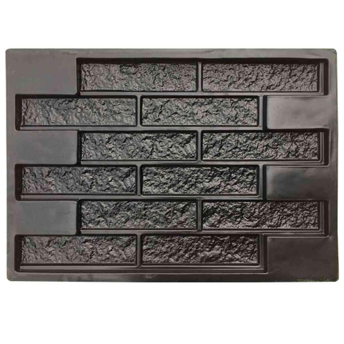 68.5*49*2.6 cm ריצוף עובש גן אמנות קרפט נתיב בחניה קיר אבן דקורטיבי בטון מלט עובש בריק DIY מבנים