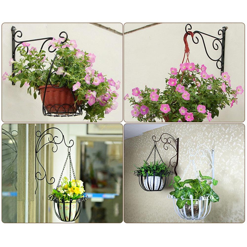 Art Hanging Basket Balcony Iron Hanging Basket Artificial Flower Plant Decor