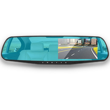 Car DVR Camera all-in-one electronic dog 4.3 Inch HD 1080P Rearview Mirror  double lens  night vision vehicle data recorder