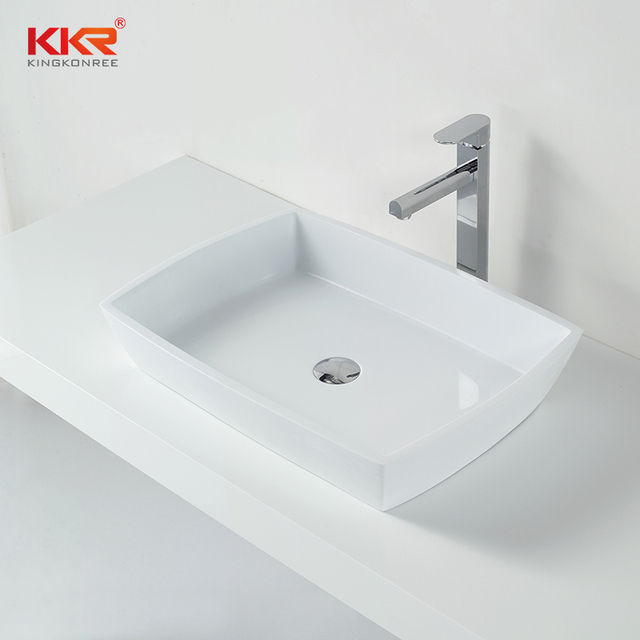 KKR Solid Surface Material Artificial Stone Countertop Table Top Wash Basin 1316