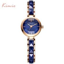 hot deal buy famous brand kimio quartz-watch women watches 2016 simulate ceramic ladies bracelet gold watch women dress women's watches clock