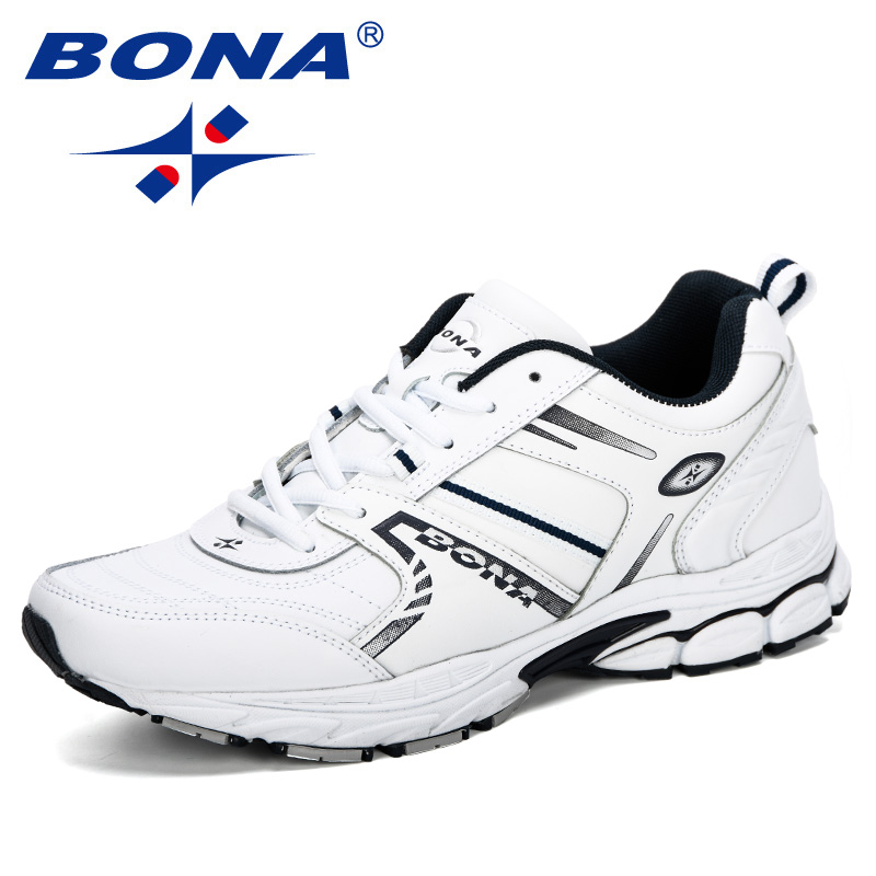 BONA 2019 Men Sneakers Men Running Shoes Sports Shoes Men Outdoor Walking Shoes Man Breathable Chaussure Homme Trendy Footwear-in Running Shoes from Sports & Entertainment    1