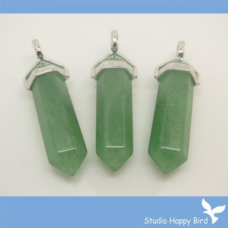 Wholesale price Green Aventurine Quatz Crystal Heart Shaped Pendant