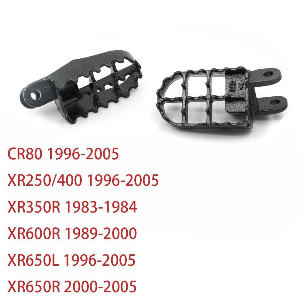 For Honda XR250 XR 250 400 CR80 XR650L 96-05 XR350R 83-84 XR600R 89-00 XR650R 00-05 Steel Foot Pegs Rests Footpegs Footrest
